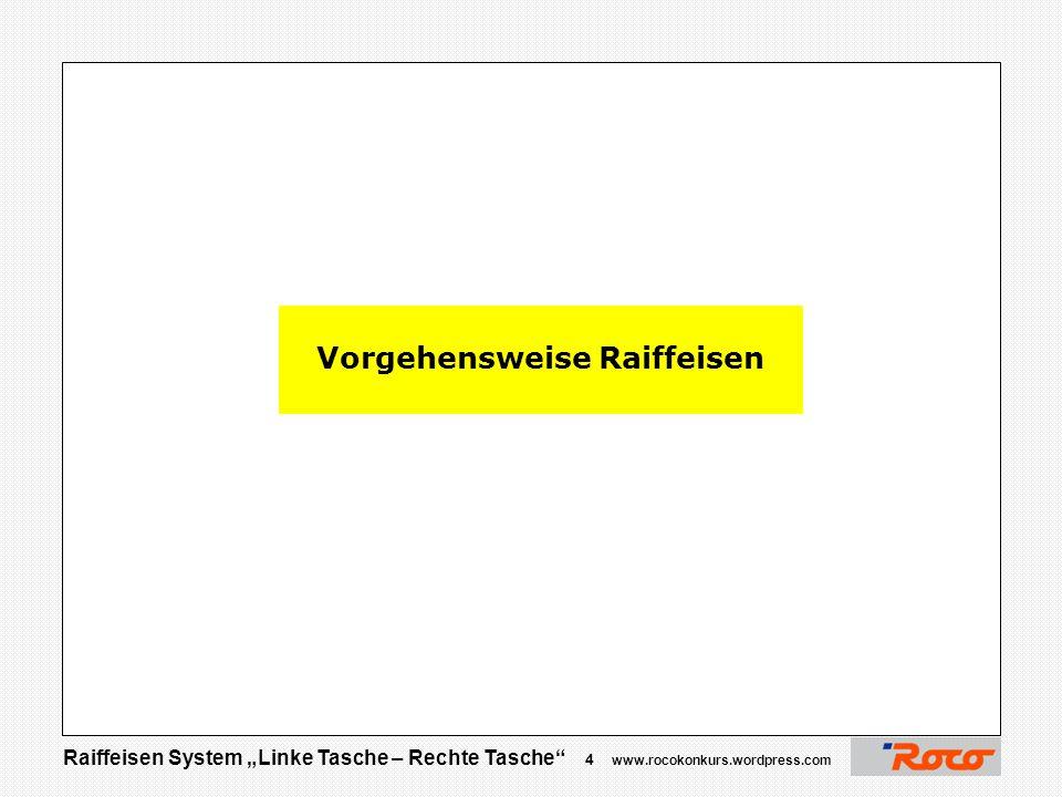 """Raiffeisen System """"Linke Tasche – Rechte Tasche"""" 3 www.rocokonkurs.wordpress.com BIODIESEL ENNS System Raiffeisen «Linke Tasche – Rechte Tasche» BIODI"""