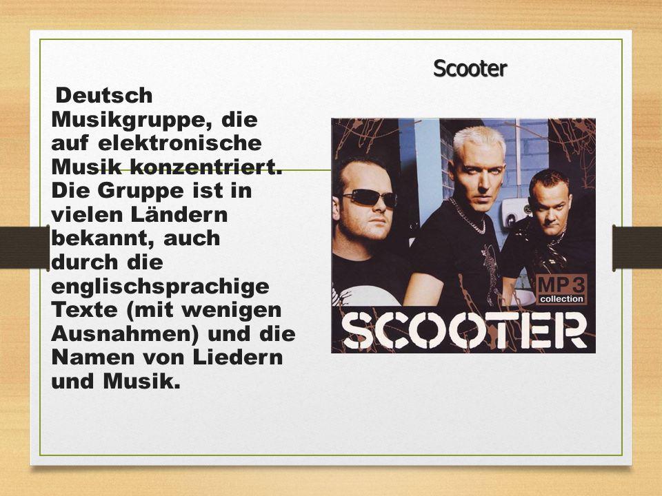 Deutsch Musikgruppe, die auf elektronische Musik konzentriert. Die Gruppe ist in vielen Ländern bekannt, auch durch die englischsprachige Texte (mit w