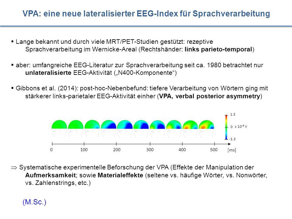  Lange bekannt und durch viele MRT/PET-Studien gestützt: rezeptive Sprachverarbeitung im Wernicke-Areal (Rechtshänder: links parieto-temporal)  aber
