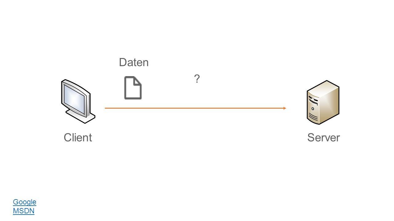 ClientServer Daten Google MSDN