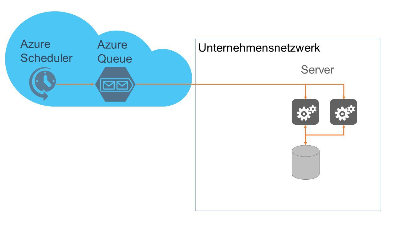 Server Azure Scheduler Unternehmensnetzwerk Azure Queue