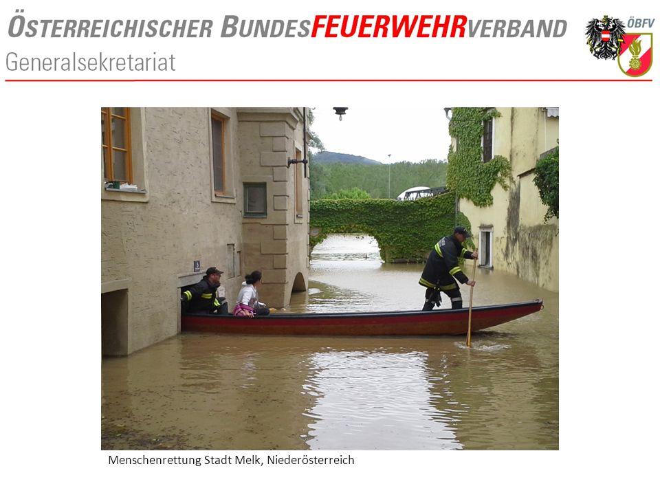Menschenrettung Stadt Melk, Niederösterreich