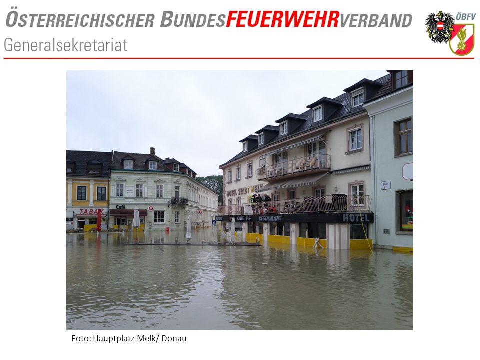 Foto: Hauptplatz Melk/ Donau