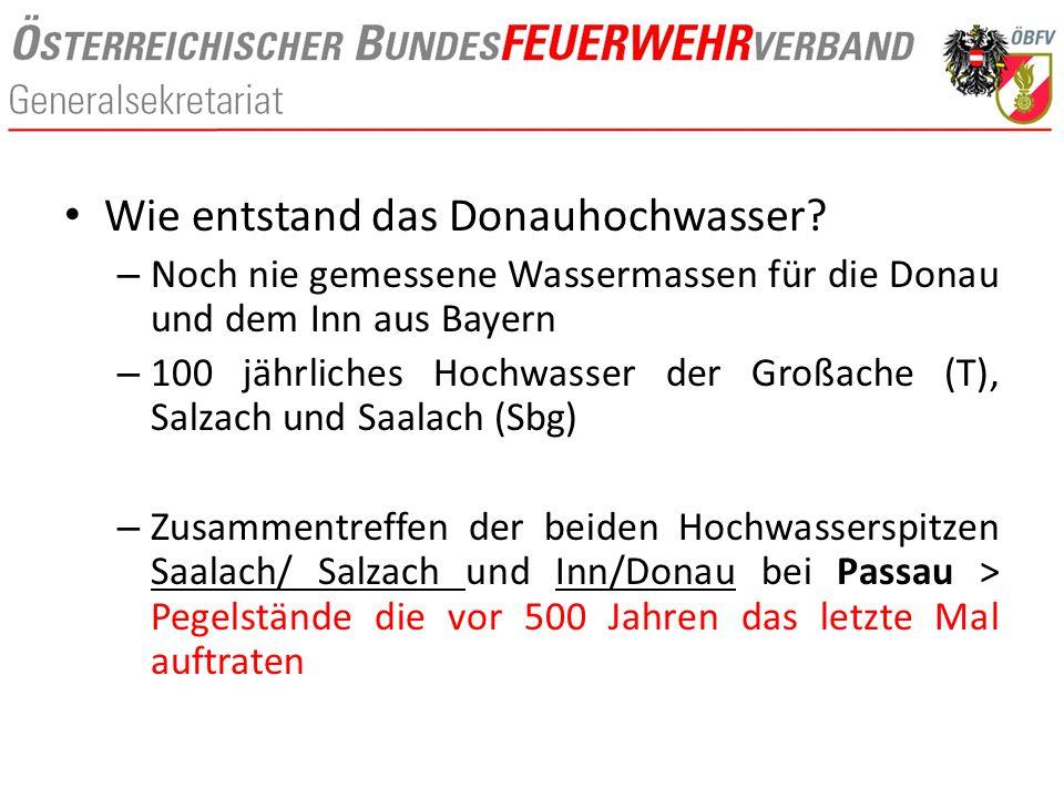 Wie entstand das Donauhochwasser? – Noch nie gemessene Wassermassen für die Donau und dem Inn aus Bayern – 100 jährliches Hochwasser der Großache (T),
