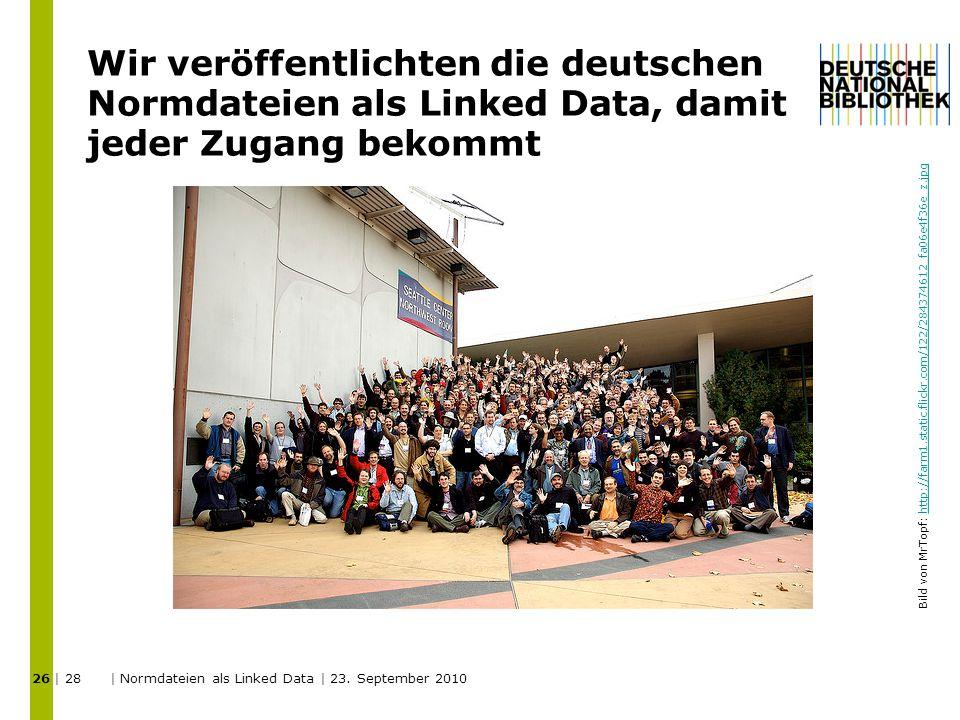 Wir veröffentlichten die deutschen Normdateien als Linked Data, damit jeder Zugang bekommt 26 | 28 | Normdateien als Linked Data | 23.