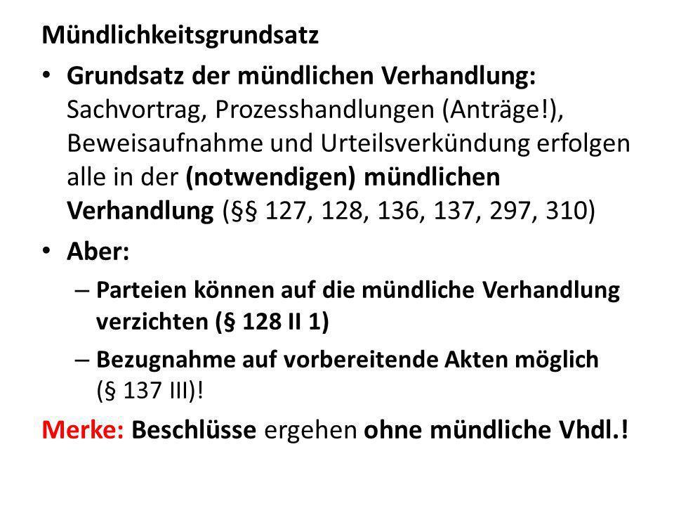 Zuweisung der sachlichen Zuständigkeit nach GVG Streitwertunabhängig: – Zum AG: §§ 23 Nr.