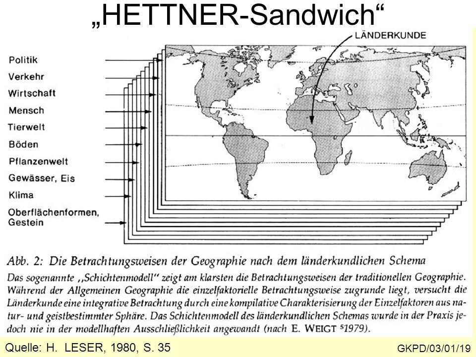 """GKPD/03/01/19 """"HETTNER-Sandwich"""" Quelle: H. LESER, 1980, S. 35"""
