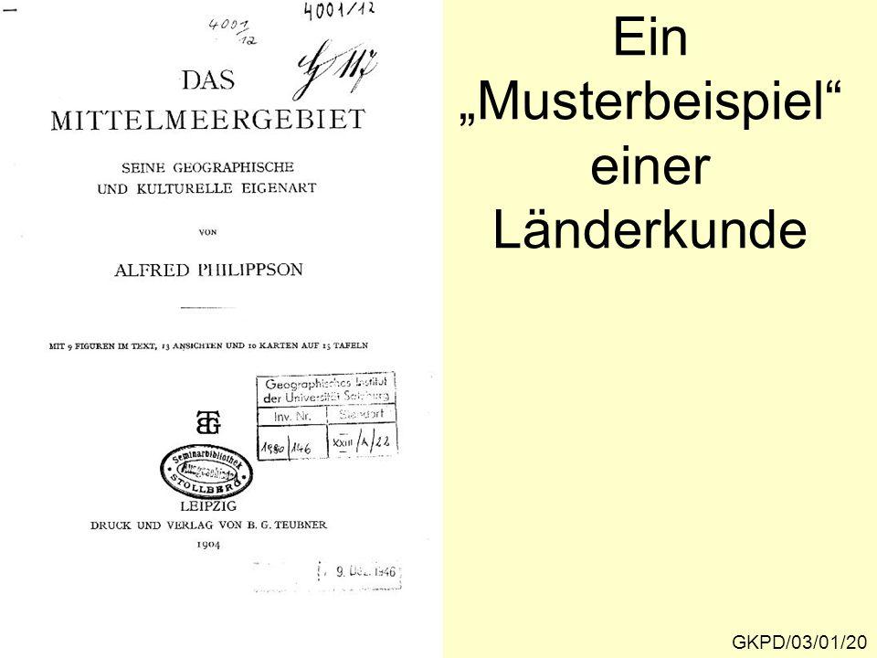 """Ein """"Musterbeispiel einer Länderkunde GKPD/03/01/20"""