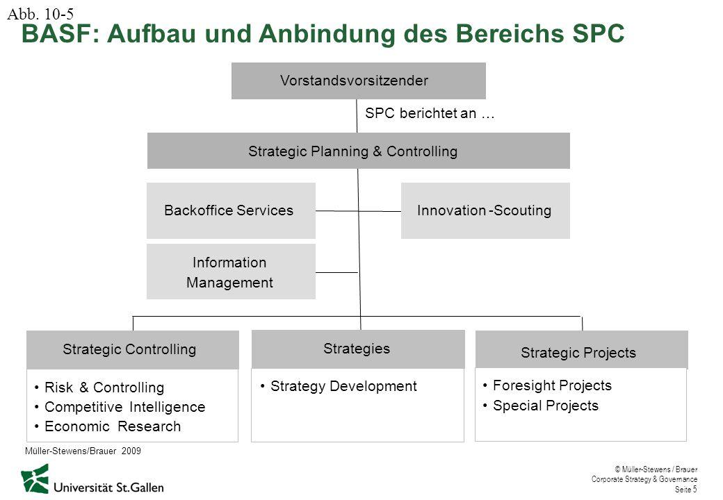© Müller-Stewens / Brauer Corporate Strategy & Governance Seite 6 BASF: Strategischer Foresight-Prozess Abb.