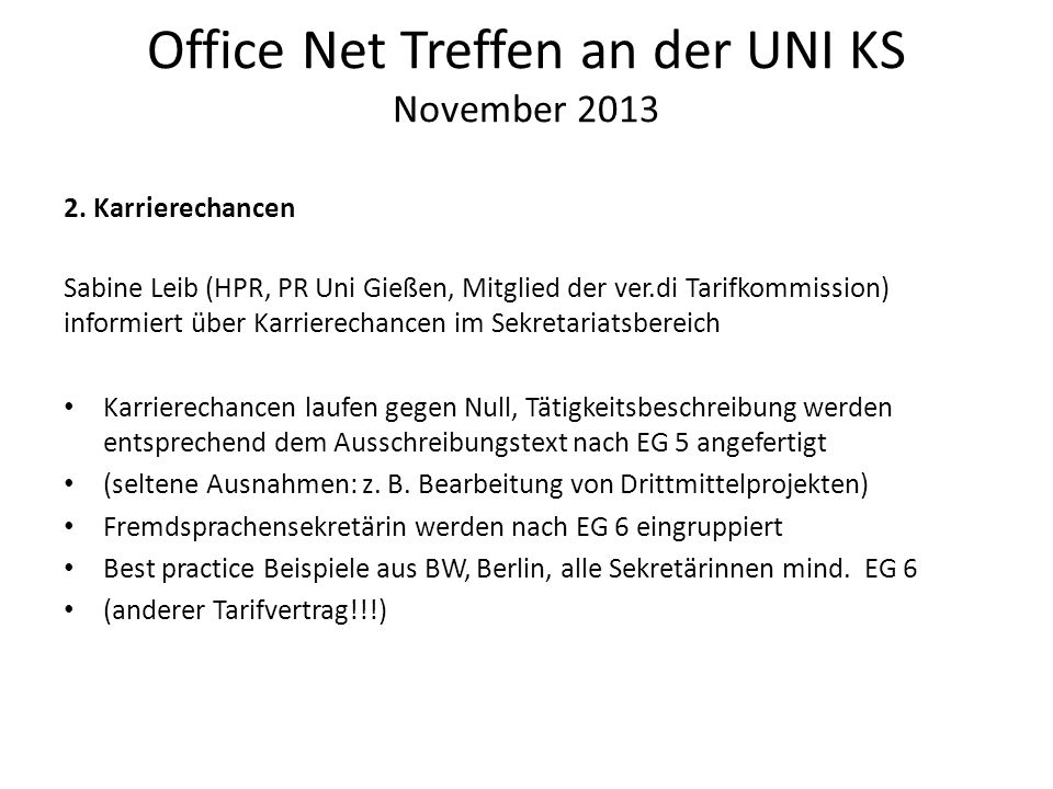 Office Net Treffen an der UNI KS November 2013 2.