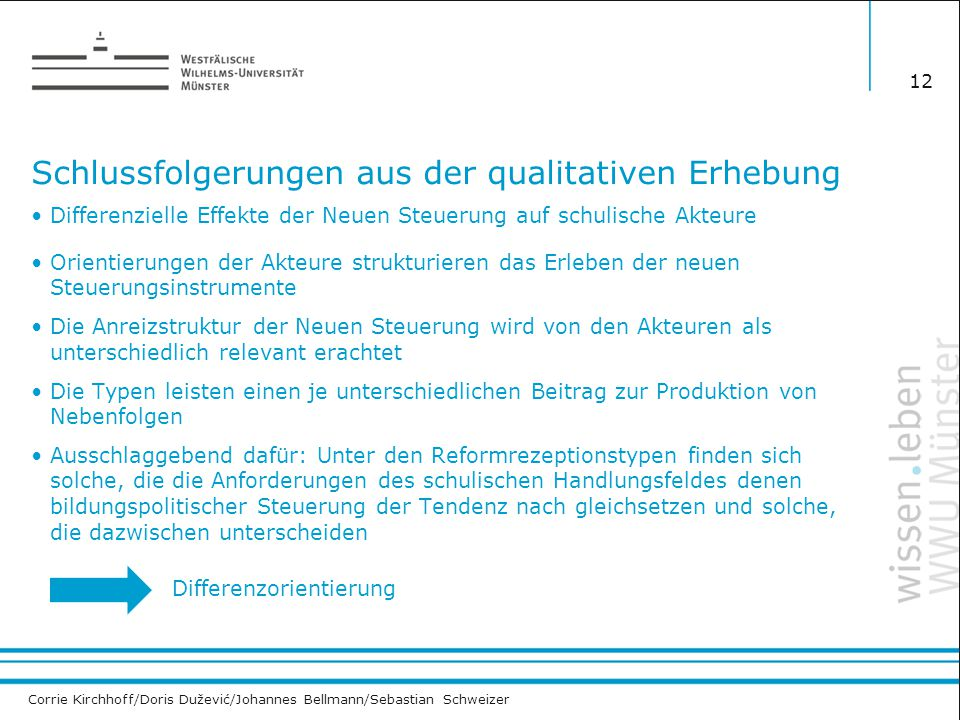 Corrie Kirchhoff/Doris Dužević/Johannes Bellmann/Sebastian Schweizer Schlussfolgerungen aus der qualitativen Erhebung 12 Differenzielle Effekte der Ne