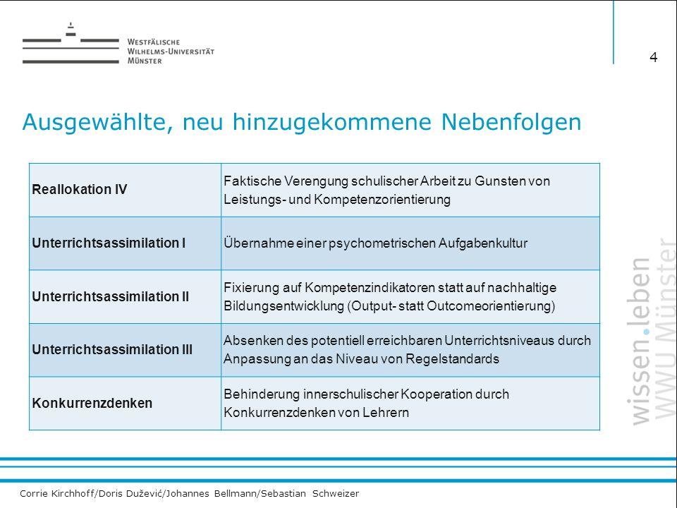 Corrie Kirchhoff/Doris Dužević/Johannes Bellmann/Sebastian Schweizer Ausgewählte, neu hinzugekommene Nebenfolgen 4 Reallokation IV Faktische Verengung