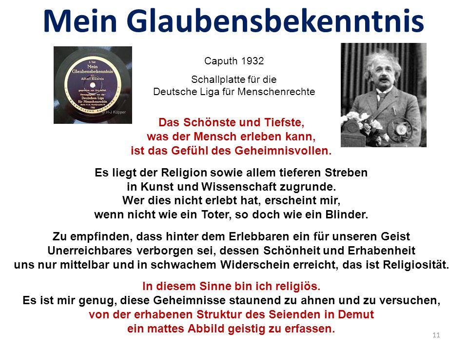 Mein Glaubensbekenntnis Caputh 1932 Schallplatte für die Deutsche Liga für Menschenrechte 10