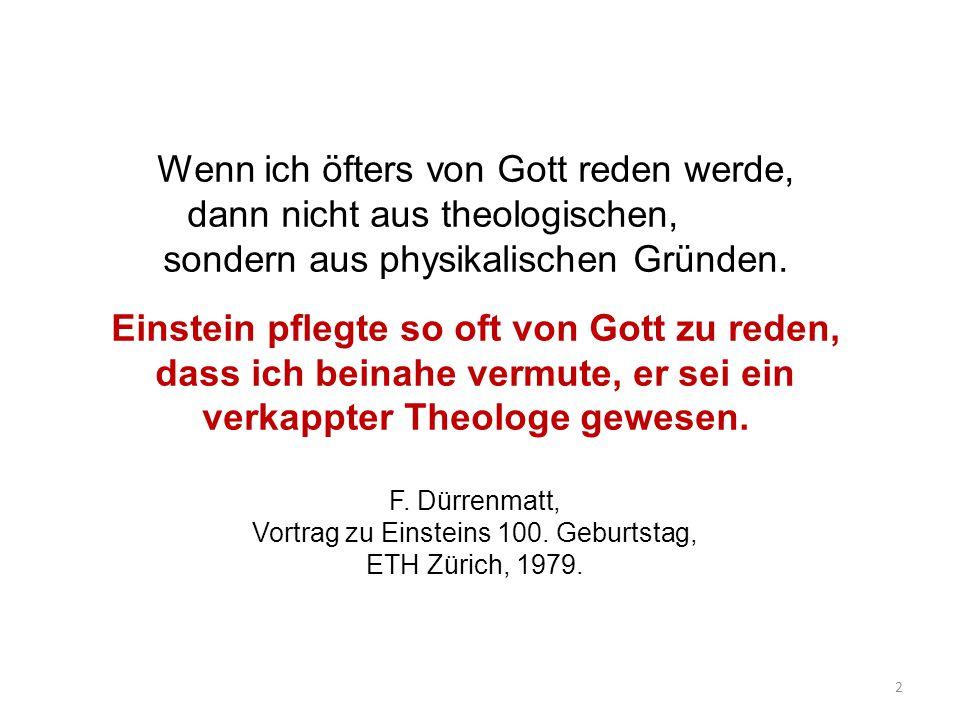 Der Alte würfelt nicht Einsteins Dialog mit Gott