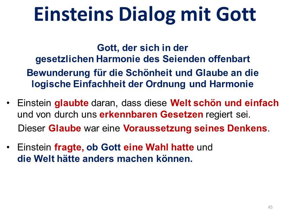 Einsteins Dialog mit Gott...dem Herrgott in die Karten gucken...