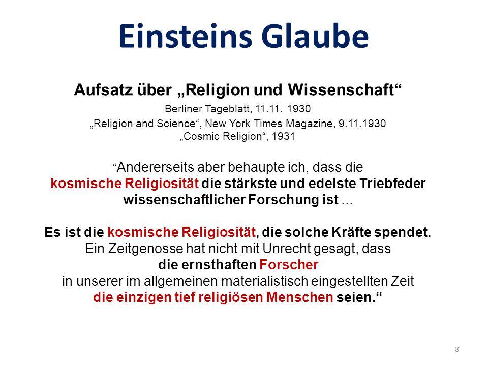 Stop telling God what to do ! Bohr zu Einstein 7