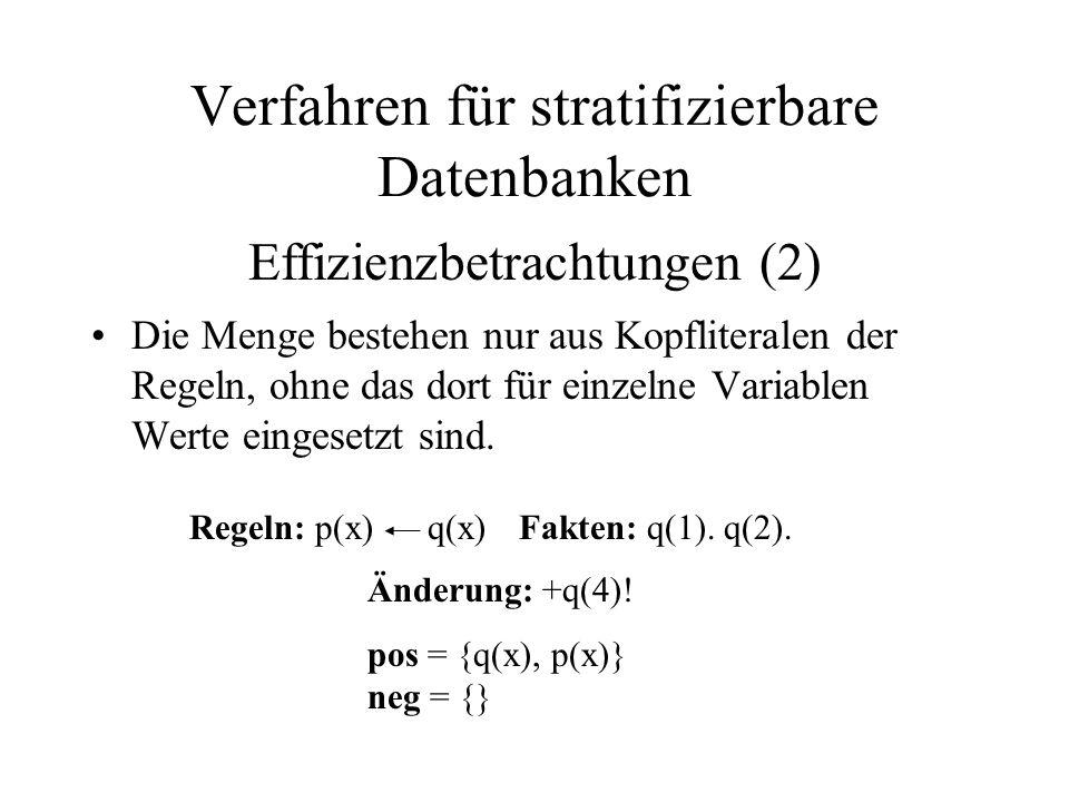 Die Menge bestehen nur aus Kopfliteralen der Regeln, ohne das dort für einzelne Variablen Werte eingesetzt sind.