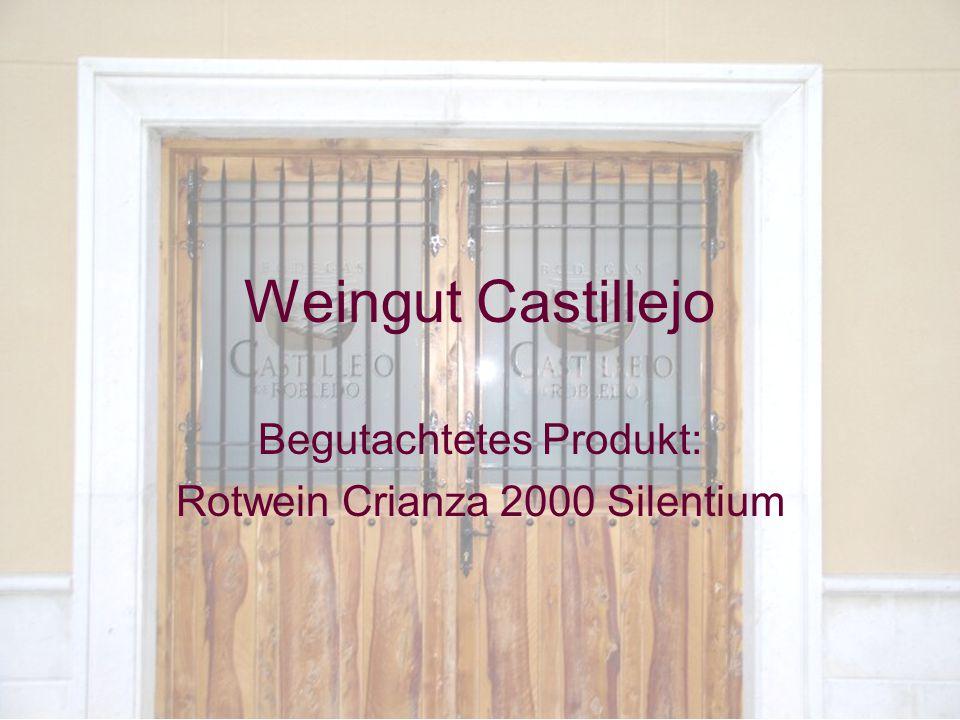 November 2004Di Benedetto, Zimmermann1 Weingut Castillejo Begutachtetes Produkt: Rotwein Crianza 2000 Silentium