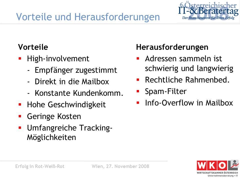 Erfolg in Rot-Weiß-Rot Wien, 27.