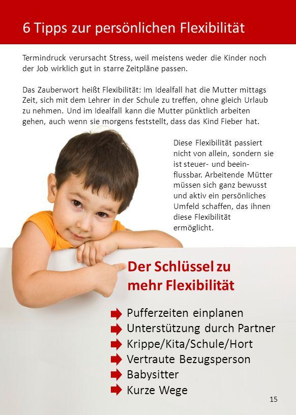 Termindruck verursacht Stress, weil meistens weder die Kinder noch der Job wirklich gut in starre Zeitpläne passen.