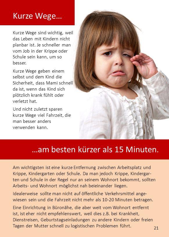 Kurze Wege sind wichtig, weil das Leben mit Kindern nicht planbar ist.