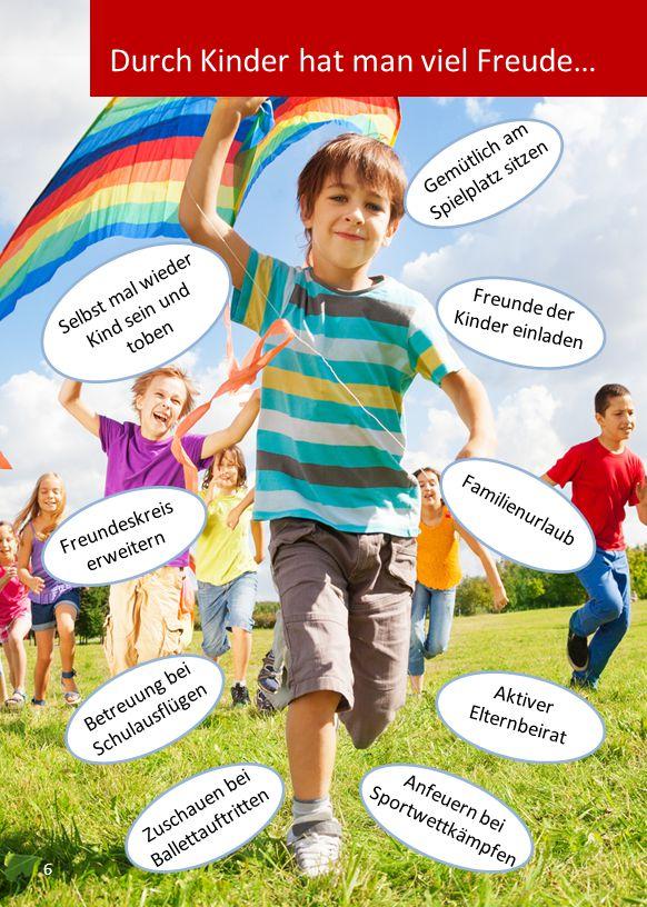 Gemütlich am Spielplatz sitzen Freunde der Kinder einladen Aktiver Elternbeirat Betreuung bei Schulausflügen Anfeuern bei Sportwettkämpfen Zuschauen bei Ballettauftritten Selbst mal wieder Kind sein und toben Freundeskreis erweitern Familienurlaub 6 Durch Kinder hat man viel Freude…