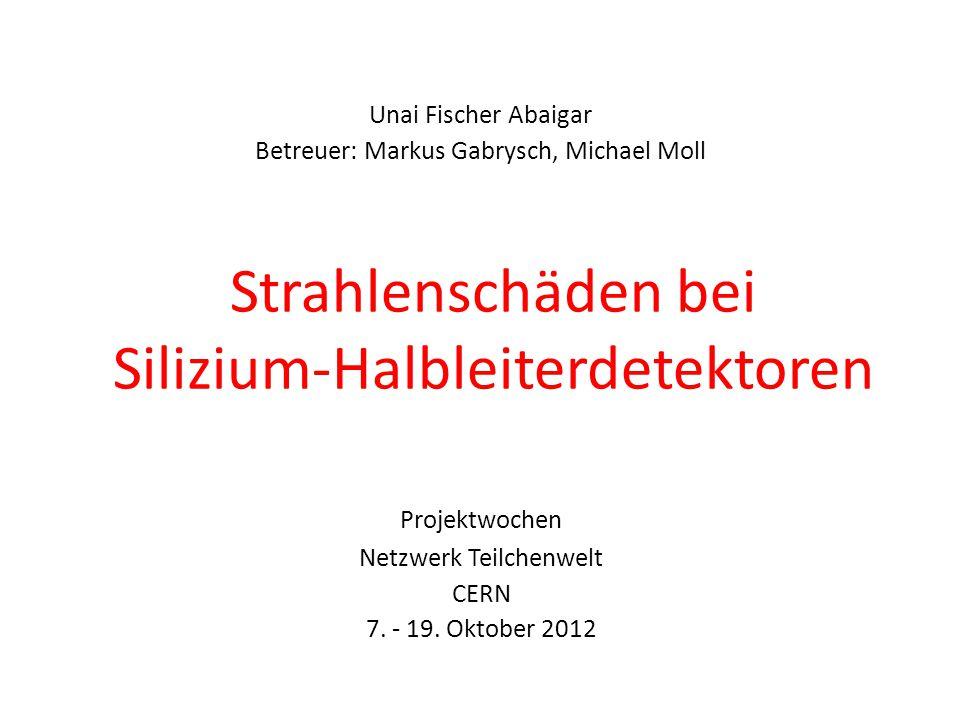 Unai Fischer Abaigar, Freiburg i.Br., Projektwochen Netzwerk Teilchenwelt, CERN, 16 Oktober 2012, Folie 11 Test-Detektoren Diese Detektoren dienen nur zum Testen, sie werden nicht verbaut.