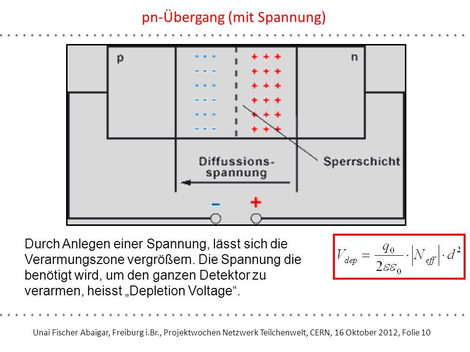 Unai Fischer Abaigar, Freiburg i.Br., Projektwochen Netzwerk Teilchenwelt, CERN, 16 Oktober 2012, Folie 10 pn-Übergang (mit Spannung) Durch Anlegen ei