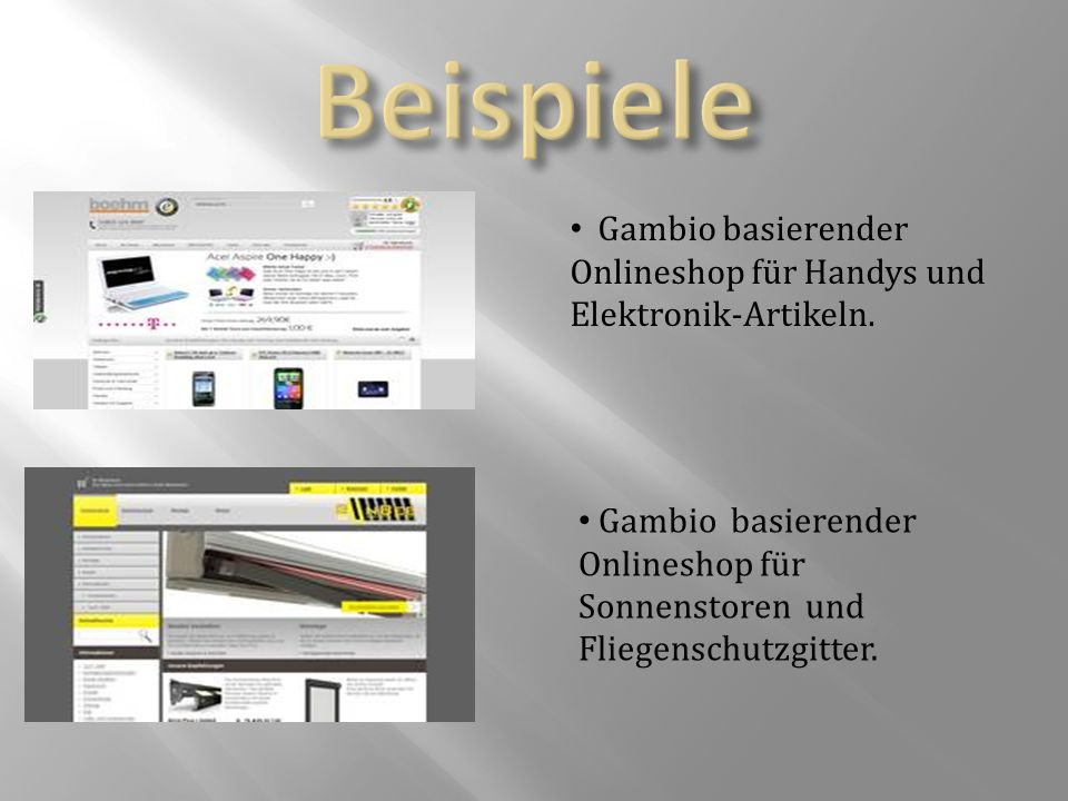 Gambio basierender Onlineshop für Handys und Elektronik-Artikeln.