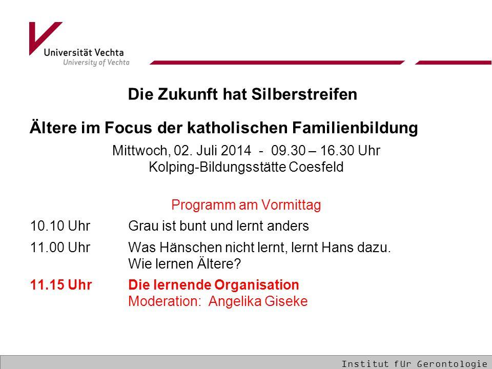 Ältere im Focus der katholischen Familienbildung Mittwoch, 02.