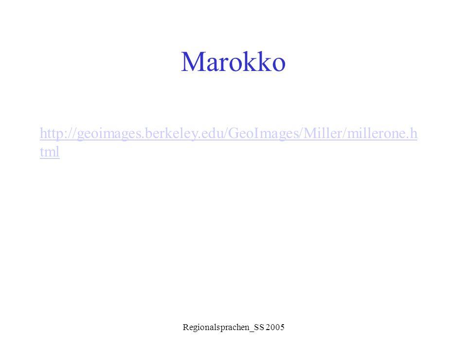 Regionalsprachen_SS 2005 Morphologie Adjektiv: Farben und körperl.