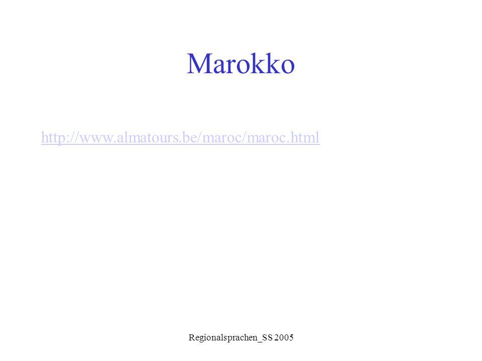 "Regionalsprachen_SS 2005 Morphologie Diminutive: Nomina  von verschiedenen Basen gebildet  Muster: f ʕ il+a (fem.) oder f ʕ ijjel (m.) b ǝ ntbnita ""Mädchen babbwiba""Türchen k ǝ lbk w lijjeb""Hündchen k ǝ lbak w liba""kl."
