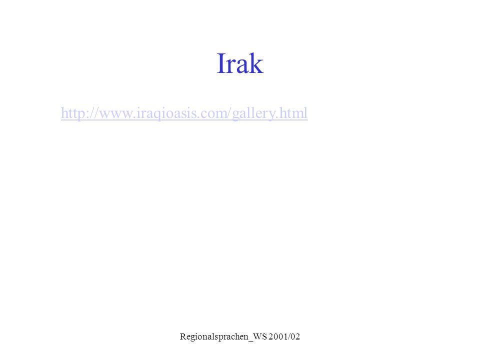 Regionalsprachen_WS 2001/02 Charakteristika  Behandlung von aar.