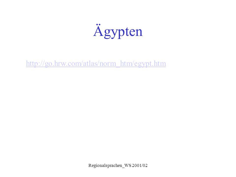 Regionalsprachen_WS 2001/02 Syntax Negation  Verb mit ma....