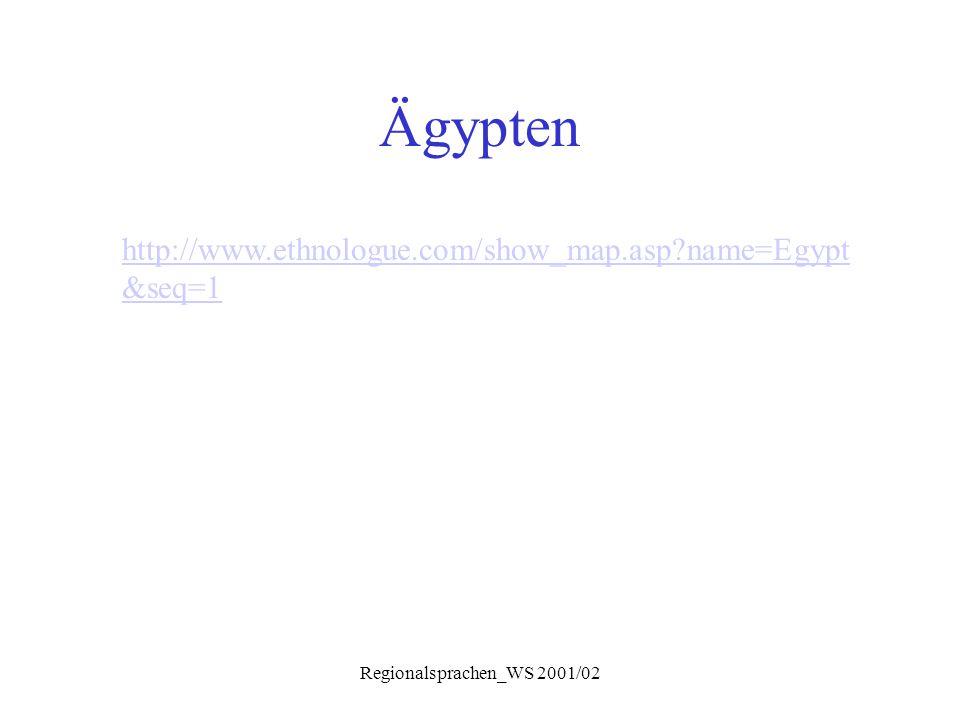 Regionalsprachen_WS 2001/02 Ägypten http://www.ethnologue.com/show_map.asp?name=Egypt &seq=1