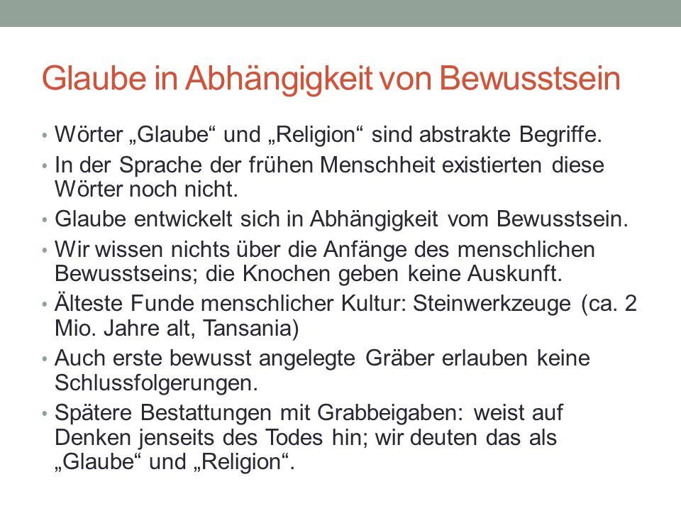Quelle: Karl-Heinz Ohlig.Religion in der Geschichte der Menschheit.