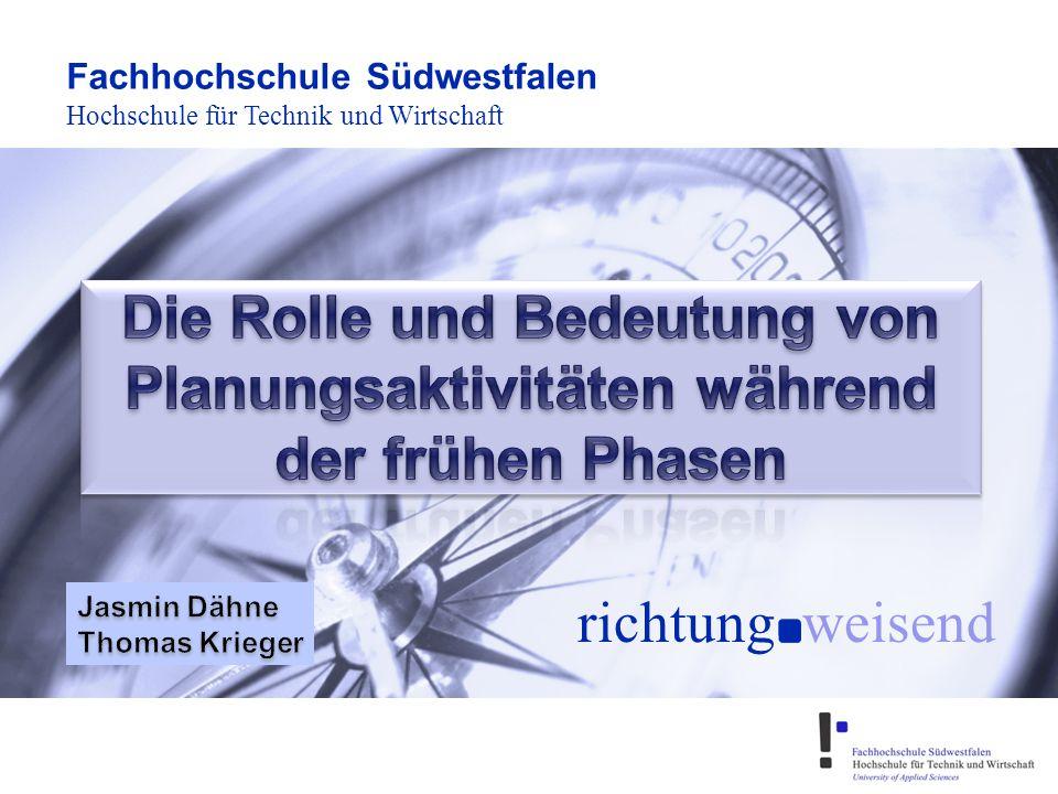 Folie 2 (04/2010) Gliederung 1.Einleitung 2.Projektplanung und Erfolg 3.Aufgaben der Projektplanung 4.Planungsaktivitäten während der frühen Phasen 5.Zusammenfassung