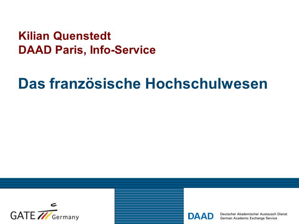 Kilian Quenstedt DAAD Paris, Info-Service Das französische Hochschulwesen
