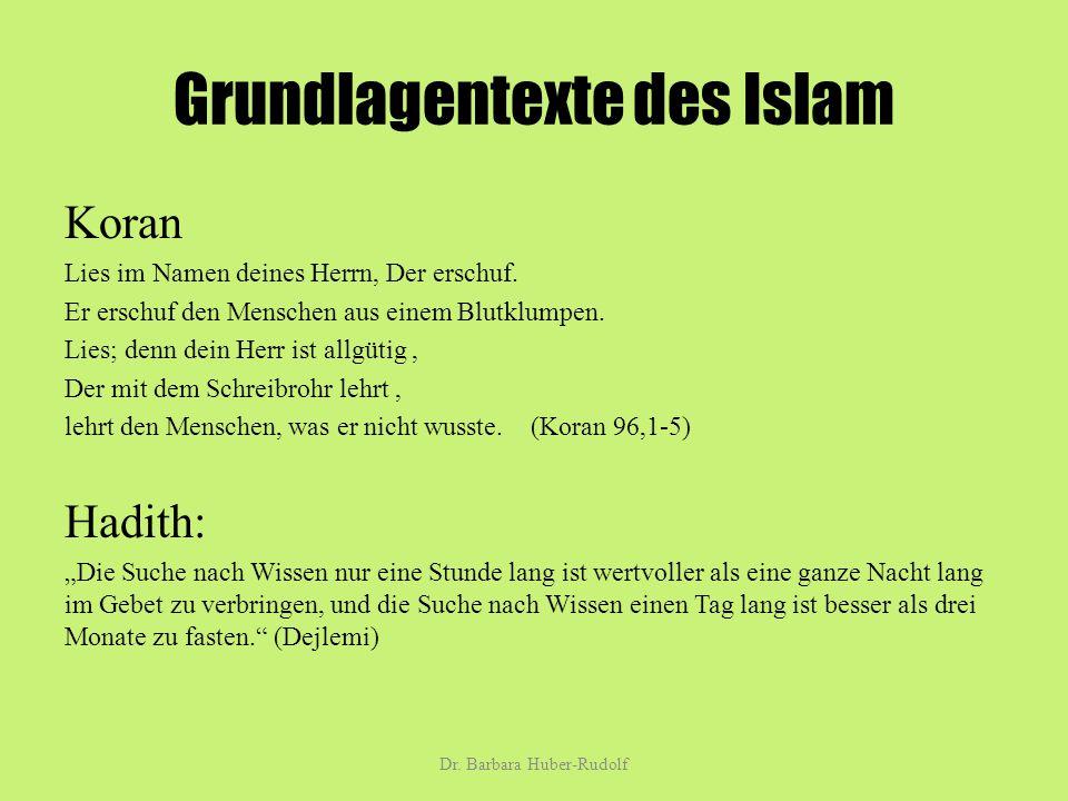 Grundlagentexte des Islam Koran Lies im Namen deines Herrn, Der erschuf.