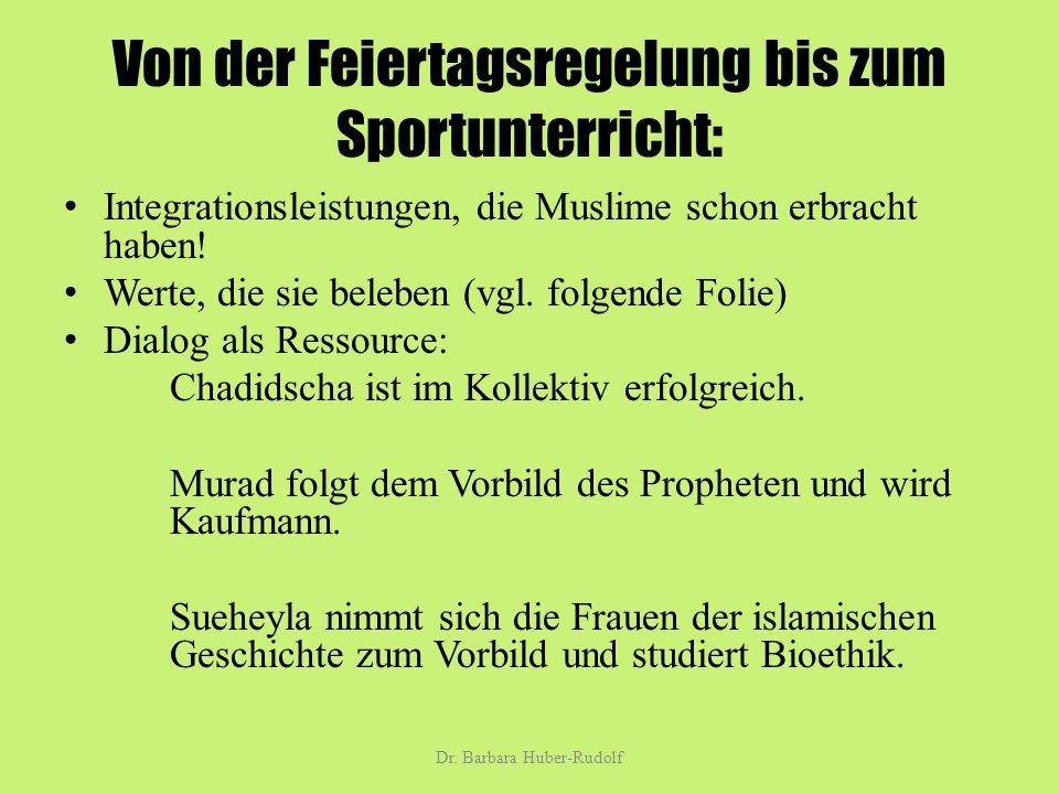 Von der Feiertagsregelung bis zum Sportunterricht: Integrationsleistungen, die Muslime schon erbracht haben.