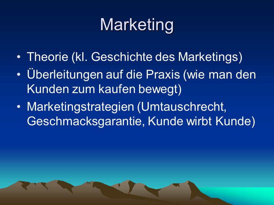 Marketing Theorie (kl.