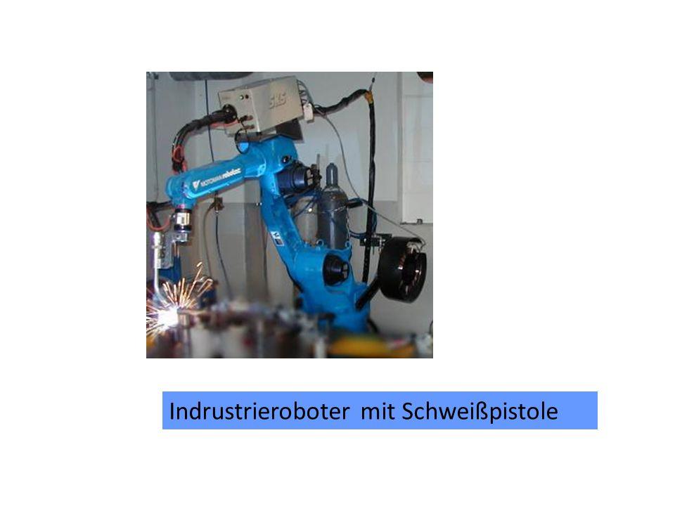 Indrustrieroboter mit Schweißpistole