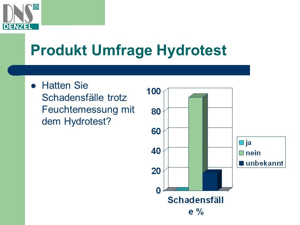 Produkt Umfrage Hydrotest Hatten Sie Schadensfälle trotz Feuchtemessung mit dem Hydrotest?