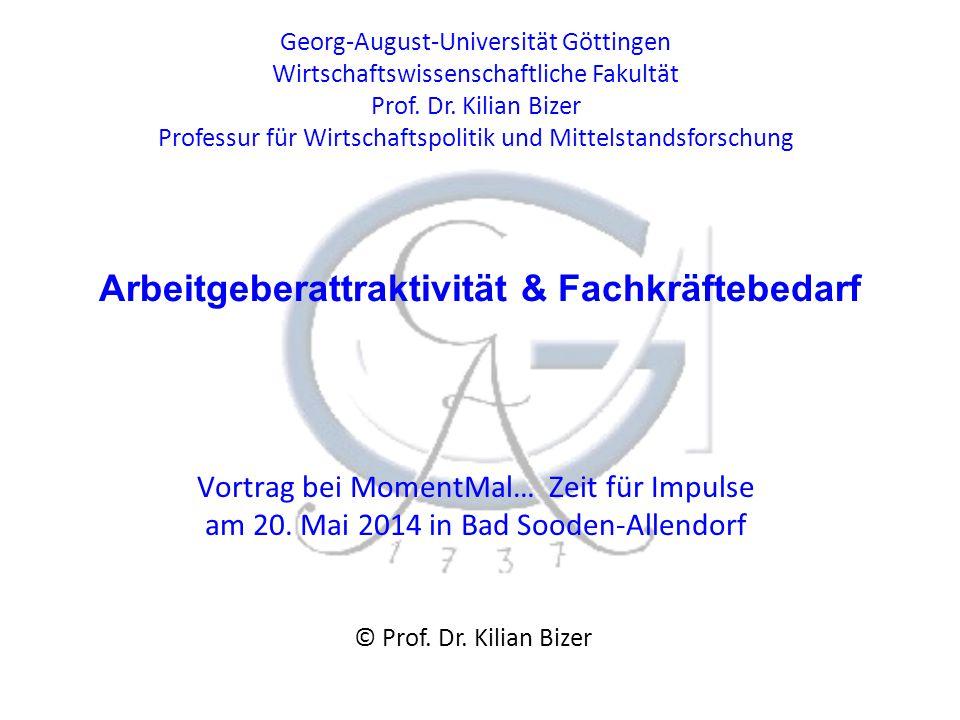 Georg-August-Universität Göttingen Wirtschaftswissenschaftliche Fakultät Prof.