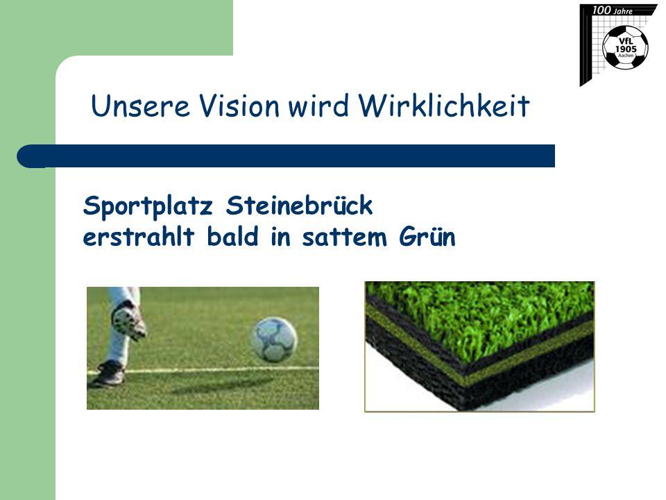 Unsere Vision wird Wirklichkeit Sportplatz Steinebrück erstrahlt bald in sattem Grün