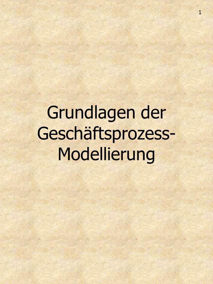 1 Grundlagen der Geschäftsprozess- Modellierung