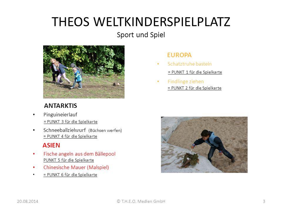 THEOS WELTKINDERSPIELPLATZ Sport und Spiel ANTARKTIS Pinguineierlauf = PUNKT 3 für die Spielkarte Schneeballzielwurf (Büchsen werfen) = PUNKT 4 für di