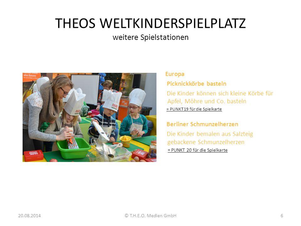 THEOS WELTKINDERSPIELPLATZ weitere Spielstationen Europa Picknickkörbe basteln Die Kinder können sich kleine Körbe für Apfel, Möhre und Co. basteln =