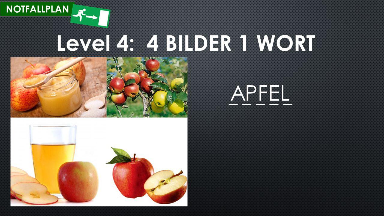 Level 4: 4 BILDER 1 WORT Regel HIER EINGEBEN!!