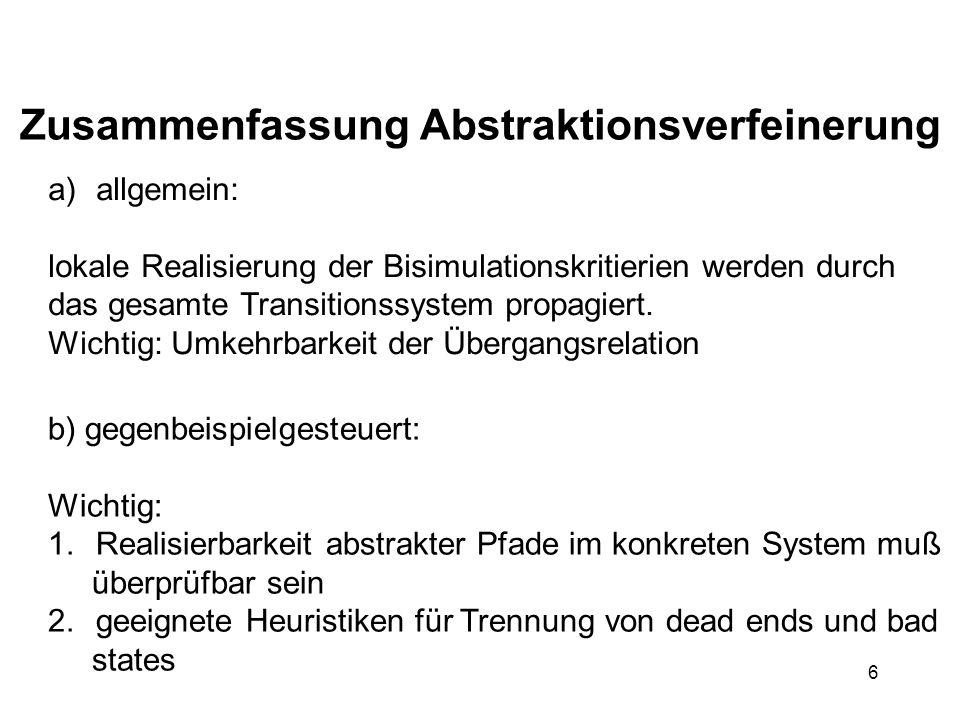 7 8.Softwareverifikation 8.1 Predicate Abstraction 8.2 Abstract Interpretation 8.3 Slicing 8.4...